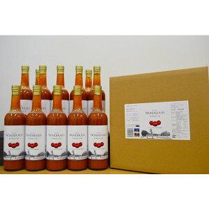 お中元 送料無料 WONDER RED トマトジュース 500g 12本入り 食塩無添加 100%トマトジュース ワンダーファーム トマト