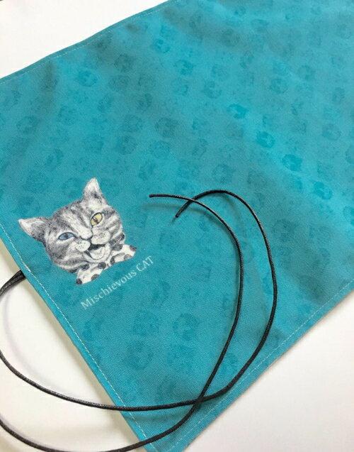 Ringo / ネコズブルーやんちゃ猫ランチマット<グッズ>