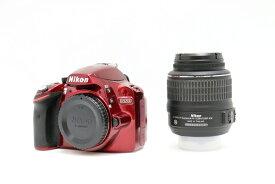 【中古】デジタル一眼レフ D3200 18-55 VR KIT レッド<カメラ>(代引き不可)6546