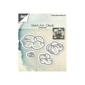 【6002-1244】ジョイ・クラフツ/ダイ(抜型)/ Sketch Art Clouds スケッチアート雲
