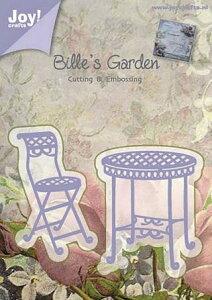 6002-0376/ジョイ・クラフツ/ダイ(抜型)/Bille's Garden ガーデンチェア テーブル