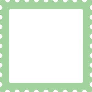 42-098/ワンダーハウス/スポンジダイ(抜型)/frame フレーム stamp 切手