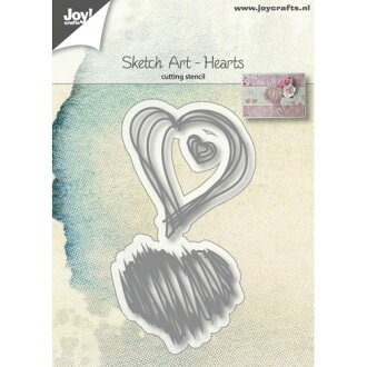 6002-1136/Joy!Crafts/喬伊·手藝/dai(抜型)/Sketch Art Hearts心
