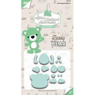 6002-3121/Joy!Crafts/喬伊·手藝/dai(抜型)/Little Woodland Adventures Berry Bear利特爾伍德大地冒險熊熊