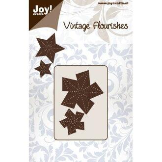 6003-0088/Joy!Crafts/喬伊·手藝/dai(抜型)/Vintage Flourishes Folding Star星立體