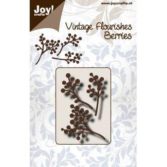 6003-0090/Joy!Crafts/喬伊·手藝/dai(抜型)/Vintage Flourishes Berries漿果小枝