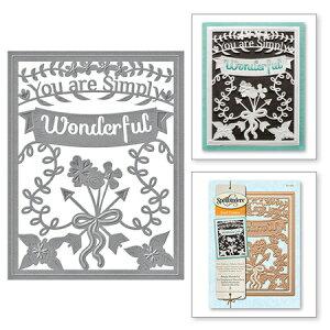 S4-562/スペルバインダーズ/ダイ(抜型)/Simply Said Simply Wonderful Decorative Card Front Card Creator Etched Dies メッセージフレーム
