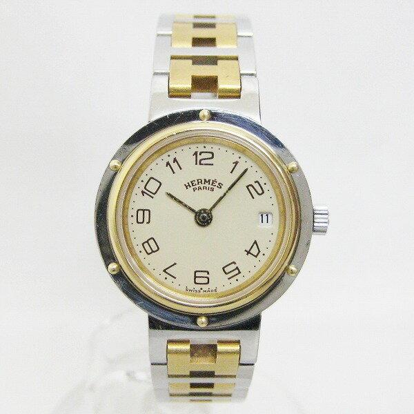 時計 エルメス Hermes クリッパー CL4.220 アイボリー クォーツ 腕時計 レディース ★送料無料★【中古】【あす楽】
