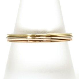 カルティエ K18YGWGPG リング 指輪 18.5号 総重量約3.8g ジュエリー 中古 送料無料 新品同様 【中古】【あす楽】 ギフトラッピング無料