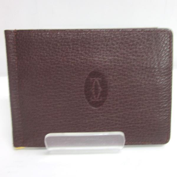 カルティエ Cartier 二つ折り財布 レザー ★送料無料★【中古】【あす楽】