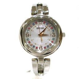 精工太陽能電波1B21-0AC0鐘表手錶女士★郵費免費★[中古][明天輕鬆]