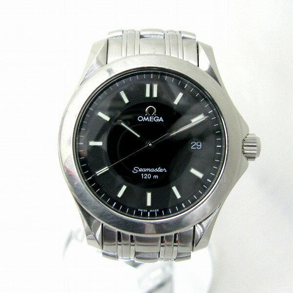 時計 オメガ シーマスター 120M 2511.52 メンズ クオーツ ブラック文字盤 ★送料無料★【中古】【あす楽】