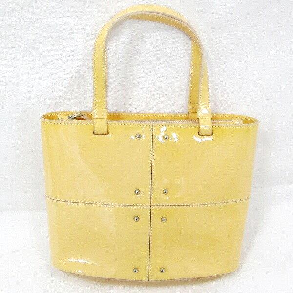 TOD'S トッズ ミニバッグ エナメル 黄色 ★送料無料★【中古】【あす楽】