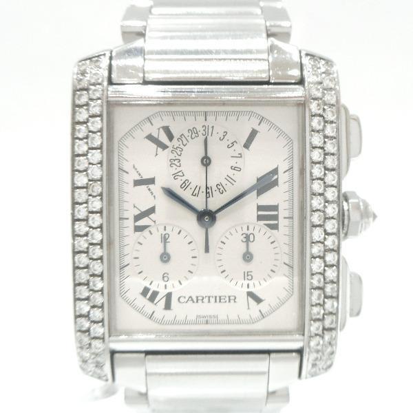 時計 カルティエ Cartier タンクフランセーズ クロノリフレックス 2303 ★送料無料★【中古】【あす楽】