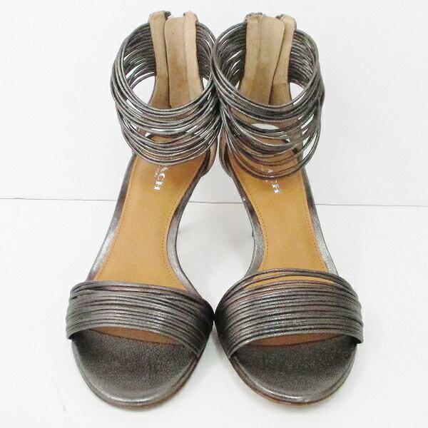 コーチ COACH レザー サンダル 35 メタリックシルバー 靴 レディース 小物 ★送料無料★【中古】【あす楽】