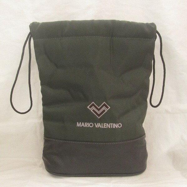 マリオバレンチノ バッグ 巾着バッグ ナイロン グリーン ★送料無料★【中古】【あす楽】