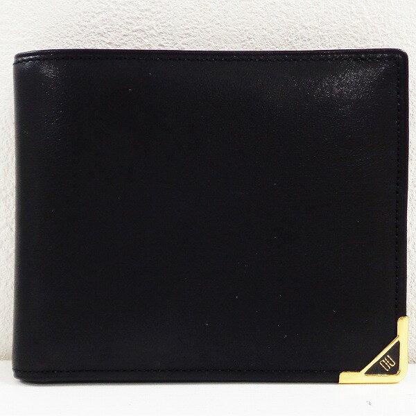 ダックス レザー ブラック 財布 2つ折り ユニセックス ★送料無料★【中古】【あす楽】