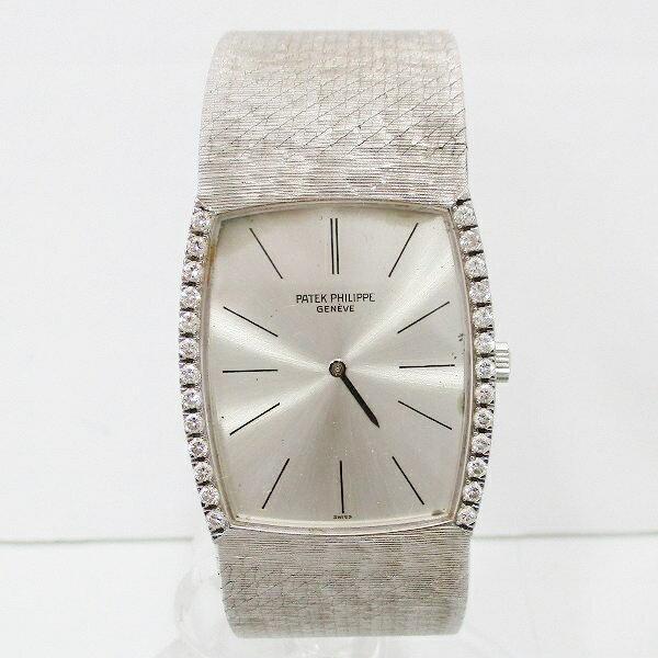 パテックフィリップ 手巻き K18WG ダイヤベゼル 時計 腕時計 メンズ ★送料無料★【中古】【あす楽】