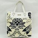 f6ad1e4480a 1003020506600768 1. Gucci GUCCI flower nylon leather blue X white tote bag  handbag Lady s ...