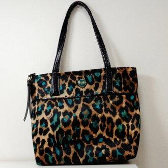 Coach COACH 25282 nylon leopard pattern tote bag Lady's ★★