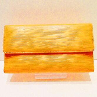 Three Louis Vuitton Louis Vuitton Eppie fold long wallet Mandarin (orange) M6338H wallet Lady's ★★
