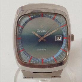 ゾディアック 自動巻き ブルー グラデーション スクエア 時計 腕時計 メンズ ★送料無料★【中古】【あす楽】