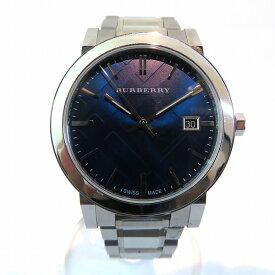 バーバリー Burberry シティ ブルー文字盤 BU9031 クォーツ 時計 腕時計 メンズ ★送料無料★【中古】【あす楽】