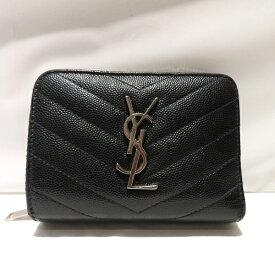 サンローランパリ レザー 403723 コンパクトジップ 財布 二つ折り財布 レディース 送料無料【中古】【あす楽】