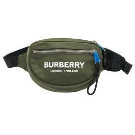 【未使用】BURBERRY (バーバリー) キャノンMLロゴ ウエストポーチ 8014524 グリーン系【ショルダーバッグ】【ボディバッグ】【ウエストバッグ】【ユニセックス/メンズ/レディース】【中古】【Sランク】【75】
