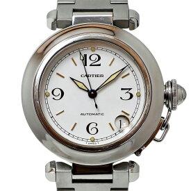 Cartier (カルティエ) パシャC Ref. 2324 オートマチック/自動巻き ホワイト文字盤 【安心の1年間保証】【メンズ □】【腕時計】【中古】【Bランク】【95】