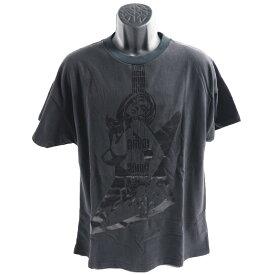 【ABランク】【サイズ:FREE】HYSTERIC GLAMOUR(ヒステリックグラマー)GUITAR GIRLビッグTシャツ【01183CT11】【メンズ】【半袖】【中古】【79】