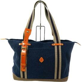 【Bランク】CLEDRAN クレドラン キャンバストートバッグ ブルー【トートバッグ】【ユニセックス】【メンズ/レディース】【中古】【81】