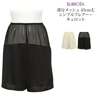 It is stake breathability for prevention of yukata underwear petticoat underwear ぺ チパンツインナーシンプル transparency petticoat Bakery black prevention of big size M L LL XL flare the underwear transparency not to be transparent vs. measures short length inner we