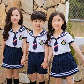 0f6fffe5194a8 男の子 女の子 セーラー服 マリン 子供服 キッズ チアガール 衣装 キッズ コスプレー セーラー服 子供 上下セット おしゃれ