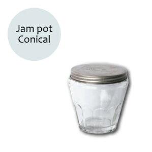 ジャムポット コニカル グラスジャー ミニジャー ガラスジャー H100xW90mm : Jampot おしゃれ かわいい アメリカン 雑貨 欧米雑貨 かっこいい
