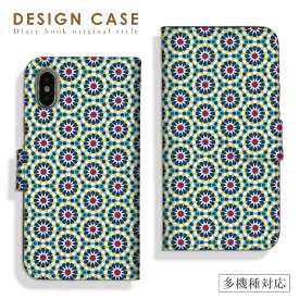 【送料無料】全機種対応 iPhoneX/XS、iPhoneXS Max、iPhoneXR対応 手帳型 スマホケース ダイアリー アラベスク 北欧 幾何学模様 おしゃれ 高級 絨毯 モデル 着用 人気 case Galaxy S10+ SC-04L Xperia 1 SO-03L Xperia Ace SO-02L SOV40