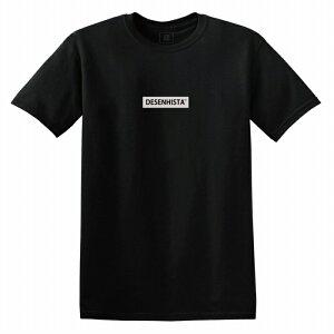 Tシャツ DESENHISTA デゼニスタ ブラック 大人 デザイン ユニセックス メンズ レディース ビッグシルエット 半袖 ゆったり ボックス ちいさめ ロゴ シンプル スポーツ