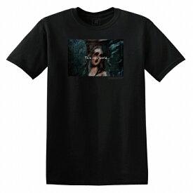 Tシャツ DESENHISTA™ デゼニスタ ブラック 大人 デザイン ユニセックス メンズ レディース ビッグシルエット 半袖 ゆったり ホラー スプラッター サイコ ロック トップス かっこいい