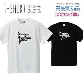 ネイティブ フェイス ロゴTシャツ 白黒 Tシャツ メンズ サイズ S M L LL XL 半袖 綿 100% よれない 透けない 長持ち プリントtシャツ コットン 人気 ゆったり 5.6オンス ハイクオリティー 白Tシャツ 黒Tシャツ ホワイト ブラック