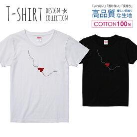 オシャレ ハート リップ 大人デザイン Tシャツ レディース ガールズ サイズ S M L 半袖 綿 100% よれない 透けない 長持ち プリントtシャツ コットン 人気 5.6オンス ハイクオリティー 白Tシャツ 黒Tシャツ ホワイト ブラック