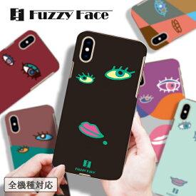 スマホケース 送料無料 iPhoneX ケース iPhone8 iPhone7 ケース iPhone6s ファジーフェイス 個性的 面白い クリアケース ハードケース 全機種対応 人気 オシャレ 可愛い iPhone8 plus アイフォン7 Xperia XZs SO-03J SO-01J Galaxy S8 SC-02J ディズニー モバイル