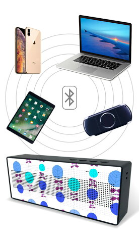 Bluetoothワイヤレススピーカーspeakerブルートゥースデザインマルチプリント2018年ガジェット