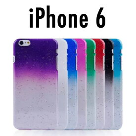 【 iPhone6 ケース 】リアル 水玉 プラスチック ケース カラフル 8カラー 素材 iPhone6 を Apple アイフォン6 iPhone6 CASE クリア ブラック