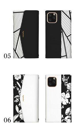 スマホケース手帳型全機種対応レター型ミラー付鏡付iPhone11ケースiPhone8ケースXperia85AQUOSsense3GalaxyNote10GooglePixel4ケース手紙定番可愛いおしゃれデザインモノクロチェックボーダー星カメリア白黒