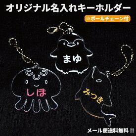 【 送料無料 】キーホルダー 名いれ ネーム 名札 ランドセル かばん バッグ キッズ オリジナル プレゼント アクア