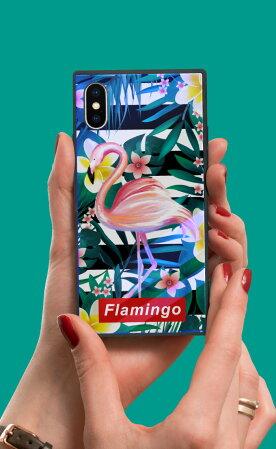 【送料無料】スクエア型四角スクエア型四角耐衝撃強化ガラスiPhoneケースTPUハードケースニコちゃんスマイルスマイリーiphone8ケースGalaxys9galaxys9plusケースiPhonexケースiPhone7iPhone6s流行トレンド海外セレブ西海岸