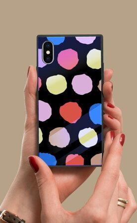 【送料無料】スクエア型四角耐衝撃強化ガラスiPhoneケースTPUハードケース北欧柄花柄おしゃれiphone8ケースGalaxys9galaxys9plusケースiPhonexケースiPhone7iPhone6s流行トレンド海外セレブかわいいパステルペールトーン