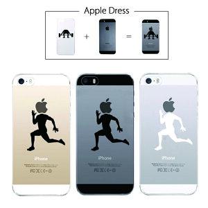 【 iPhone5 iPhone5S 】 アップル ドレス ランニング スポーツ マラソン 走る スポーツ ウエア ユニーク オシャレ スポーツ リンゴマーク iPhone5 アイフォン アイフォーン Apple iPad mini iMac MacBook savi00