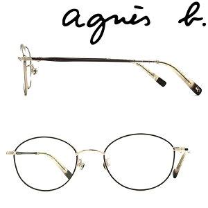 agnes b. メガネフレーム アニエスベー レディース ライトゴールド×ブラウン メガネフレーム 眼鏡 AB-50-0071-02 ブランド