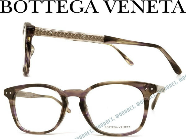 BOTTEGA VENETA メガネフレーム ボッテガヴェネタ マーブルブラック メンズ&レディース BTV-0100OA-001